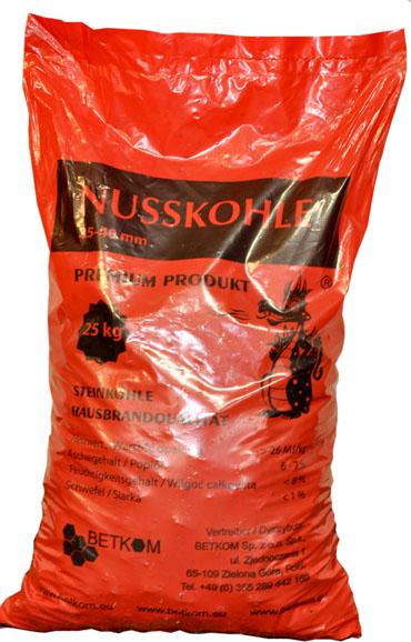 Verpackte Steinkohle in PVC Säcken in unserem Lager abholen